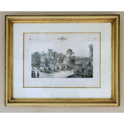 Lithographie Retour Des Cendres De Napoléon 1er à Paris 19 éme