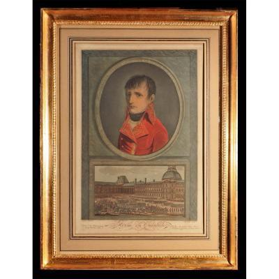 Eau Forte Bonaparte 1er Consul Revue Du Quintidi 1802