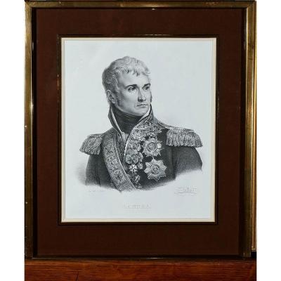 Lithographie Portrait De Jean Lannes Duc De Montebello d'Après Gérard 19ème