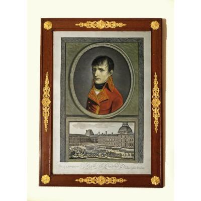 Eau-forte Revue Du Quintidi Par Napoléon Bonaparte 1er Consul