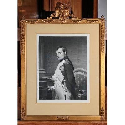 Gravure Portrait De Napoléon 1er d'Après Paul Delaroche