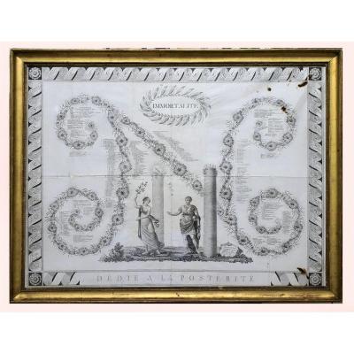 gravure à la gloire de Napoléon 1er 1812