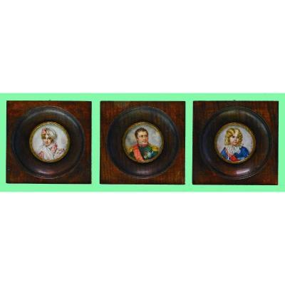 3 Miniatures  Famille Impériale Napoléon 1er