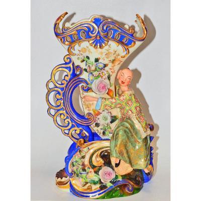 Vase Au Chinois En Porcelaine Signé Jacob Petit