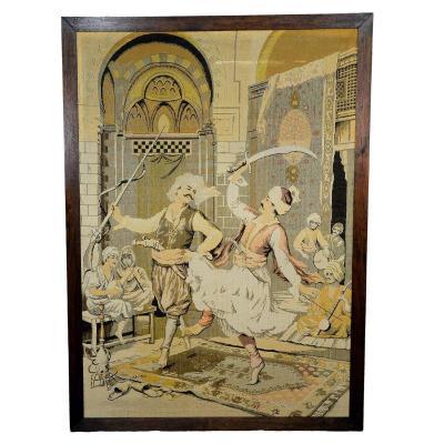 Un Très Grand Gobelin Avec Des Derviches Turcs Dansants, Vers 1900