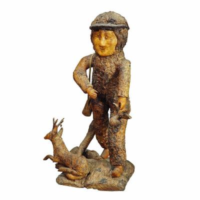 Rustic Black Forest Root Wood Hunter Ca. 1920