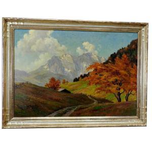 Erwin Kettemann - Landscape In The Tyrolean Alps Circa 1930