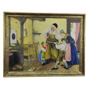 W. Melchinger - Bavarian Folk Scene In Carpentry