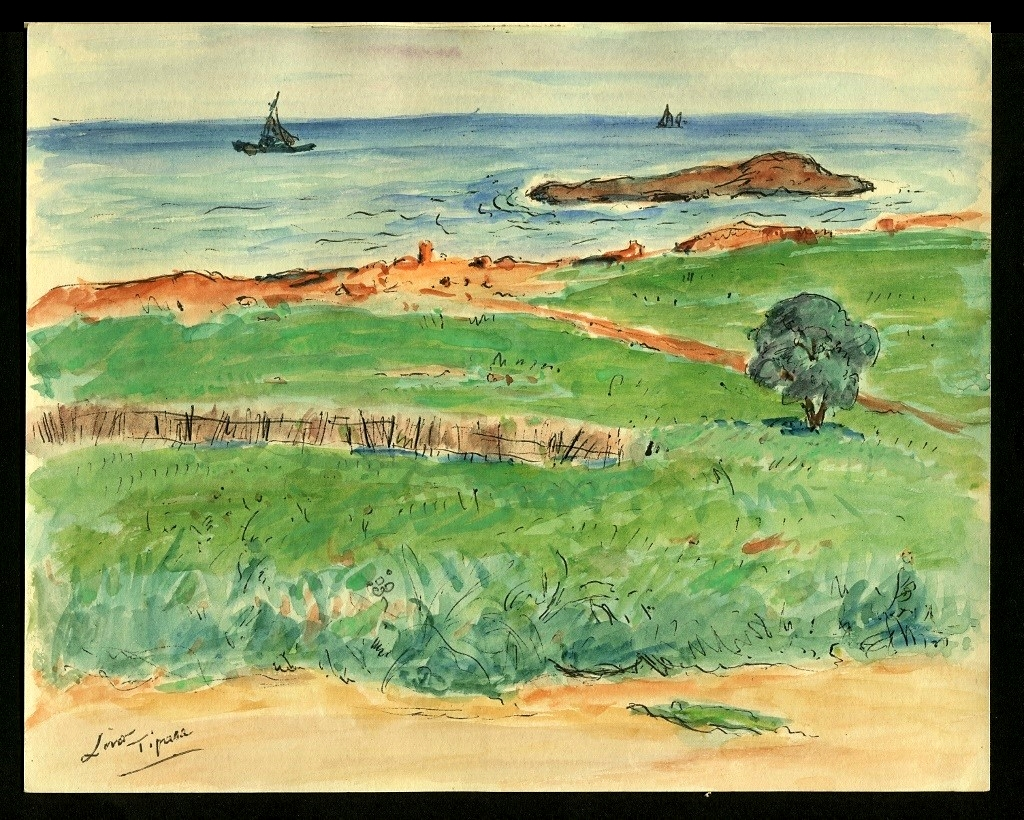 Gustave Lino (1893-1961) - Tipaza - Orientalist Drawing