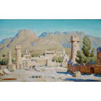 Tableau Orientaliste - Paysage De l'Atlas