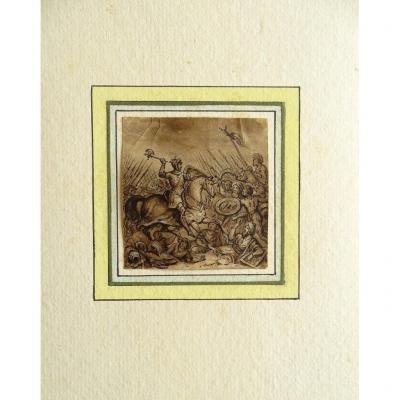 Dessin original de Victor ADAM (1801-1866) Croisade de Jérusalem - Histoire de France