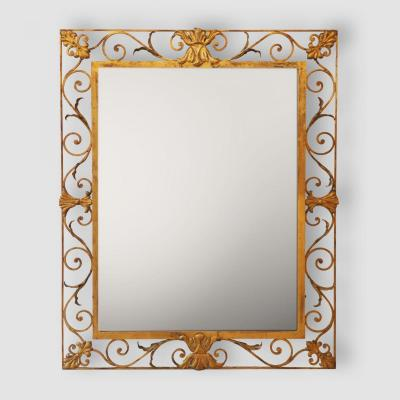 Dans Le Goût De La Maison Bagues, Miroir En Fer Forgé.