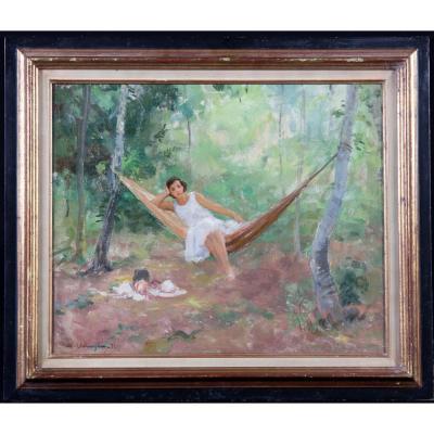 Maurice Ehlinger 1896/1981 – Portrait De Mme Ehlinger – Daté 1932 -  Ecole Française Du XX°