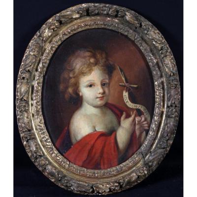 Saint Jean Baptiste Enfant – Ecole Française début XVIIIème