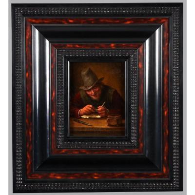 Hendrick Maartensz Roks Dit Sorgh 1611/1670 - Le Fumeur De Pipe – Ecole Hollandaise XVIIème