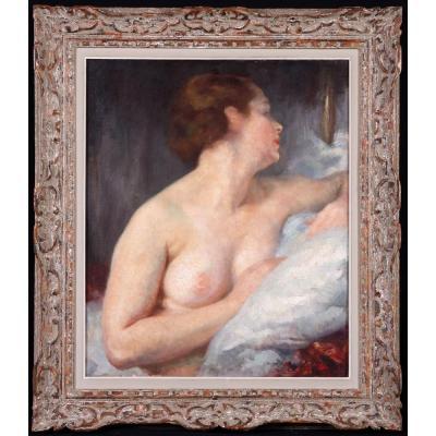 Julien TAVERNIER 1879 /? – Nue de femme en buste – Ecole fra