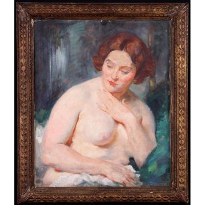 Julien Tavernier 1879/ ? – Nue De Femme En Buste – Ecole Impressionniste Française Début XXème