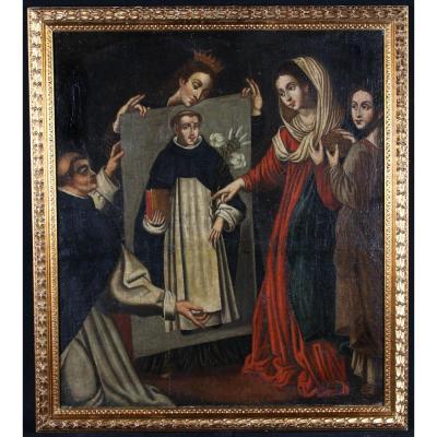 Le Miracle De Soriano - Saint Dominique - Ecole Française Du XVII°