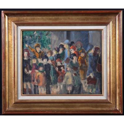 Henri Ottmann 1877/1927 – Les Enfants à La Fête Foraine