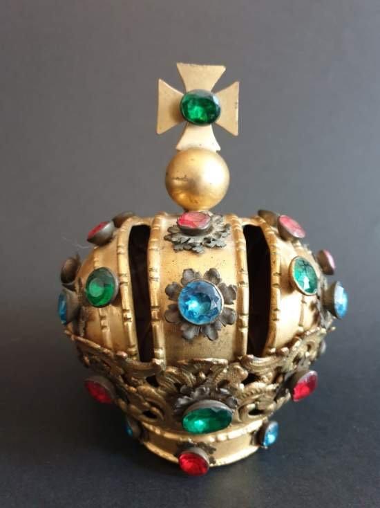 Couronne De Vierge En Bronze Et Laiton Epoque XIX éme Siècle