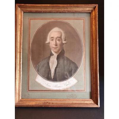 Portrait  Mr Bailly  1er Maire De Paris d'Après David époque Fin XVIIIéme Siècle