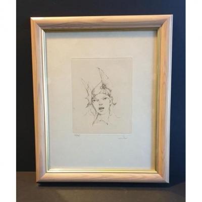 Lithographie De Leonor Fini époque XX éme Siècle