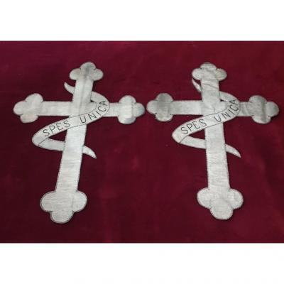 Two Crosses In Silver File Period End XIX Th Beginning XX Th Century
