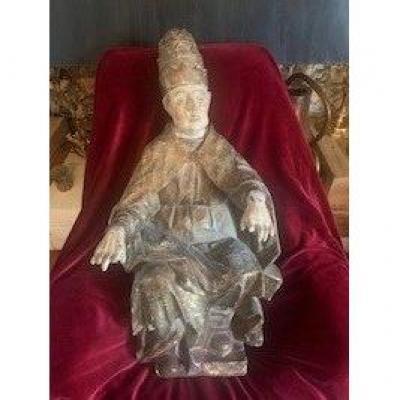 Bois Sculpté Pape