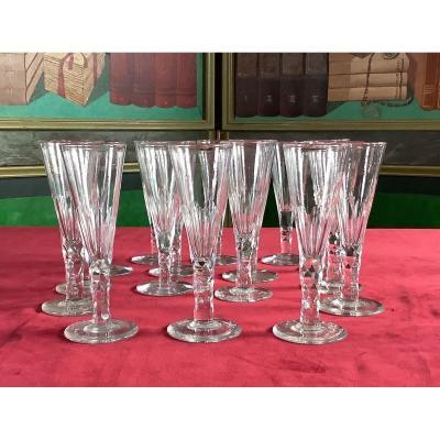 16 Crystal Flutes