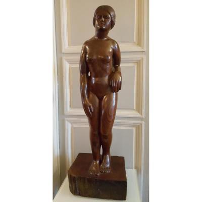 Sculpture De Femme Par H Astié