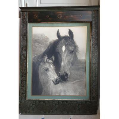 Viennese Secession Frame And Mare Engraving