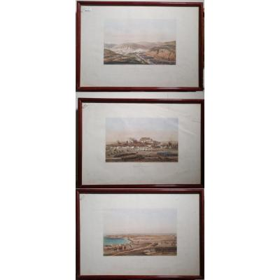 Suite Of Three Charles Lalaisse Engravings