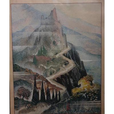 François-louis Schmied (1873-1941), The Mountain