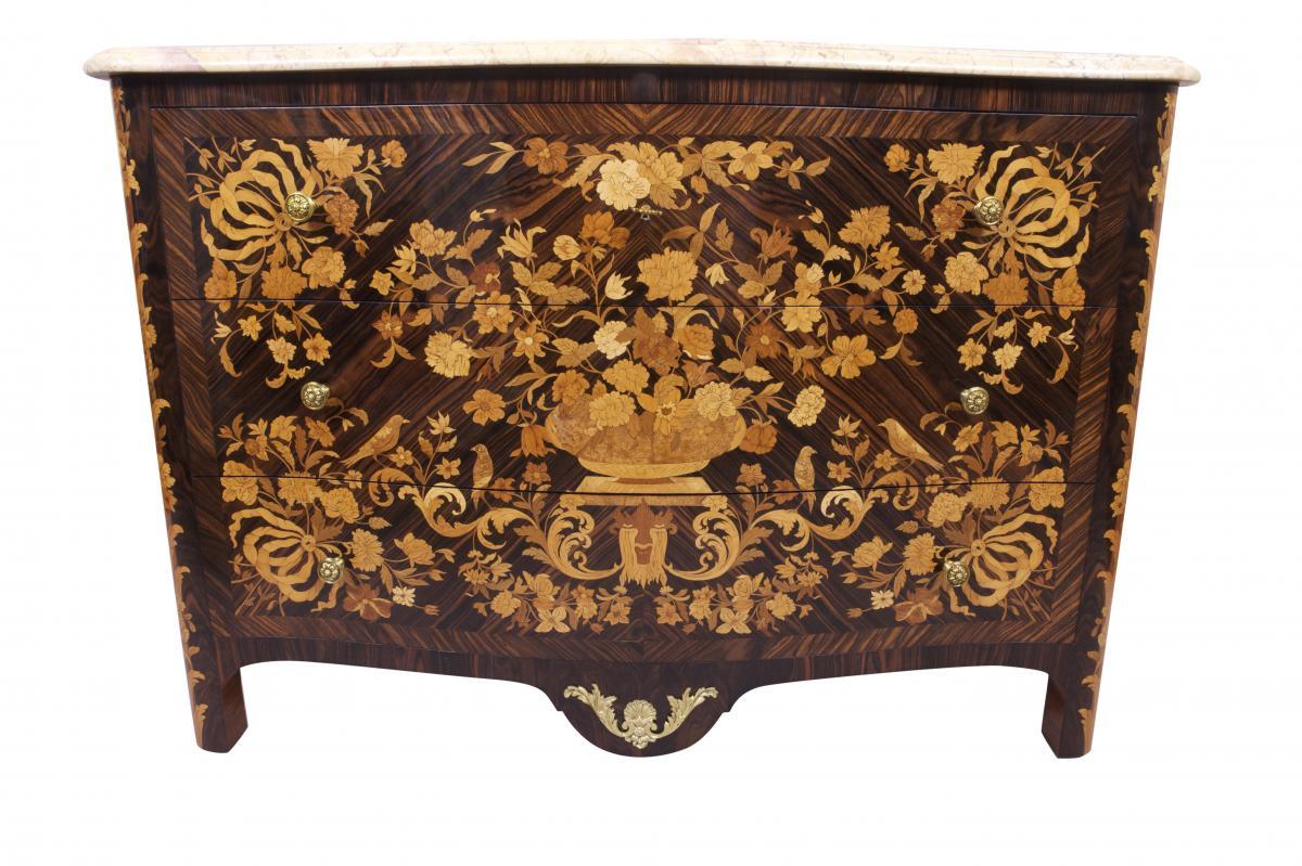 Commode De Style Louis XIV Dans L'esprit De Pierre Gole