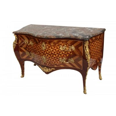 Louis XV Commode Stamped François Fleury