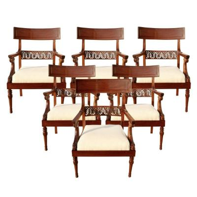 Six Armchairs In The Model Of G. Jacob