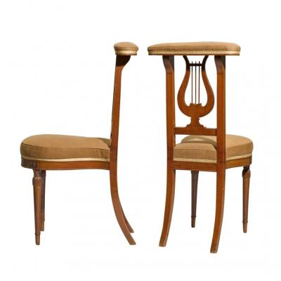 Pair Of Directoire Ponteuse Chairs, Stamped G. Jacob
