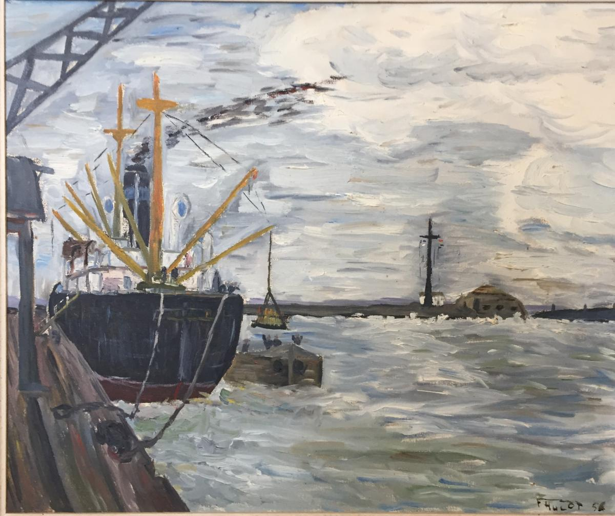 Peinture, Tableau Marine, Hst De F.Hulot