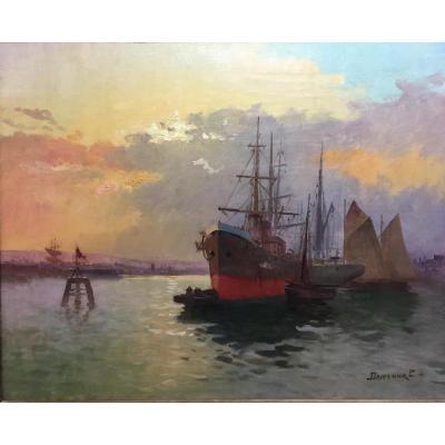 Painting, Oil On Canvas, Marine