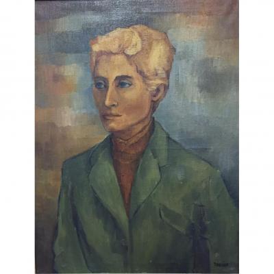 Tableau, Peinture d'Eliane Thiollier, Portrait
