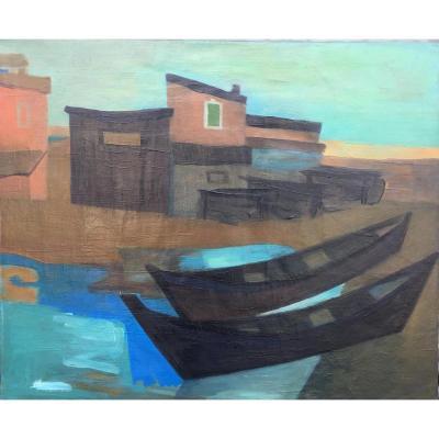 Painting Seaside, Signed Guy Chavardès
