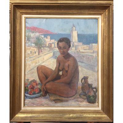Tableau, Peinture orientaliste, Femme assise