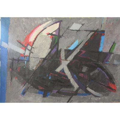 Abstract Painting Signed Brechet