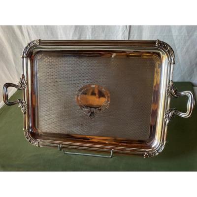 Louis XV Style Silver Metal Tray 19th