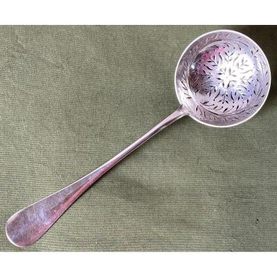 Sugar Spoon Or Sprinkler In Sterling Silver Uni-flat Model XIX