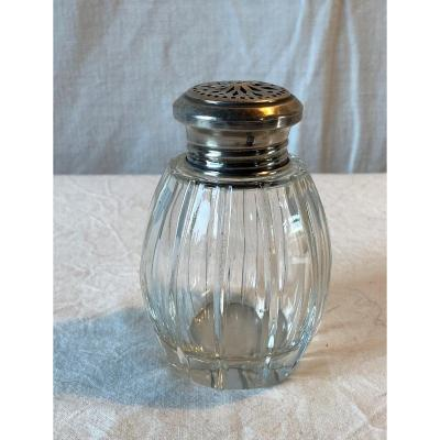 19th Century Silver And Crystal Shaker