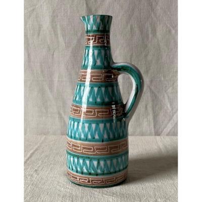 Picault Robert Pitcher In Glazed Ceramic XXth