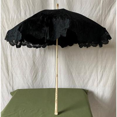 Large Old Umbrella Ivory And Lace XIX