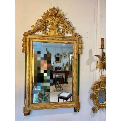 Louis XVI Golden Wood Mirror