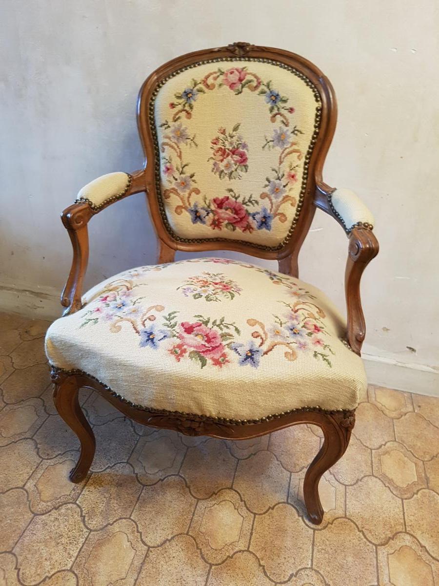 Fauteuil Cabriolet époque Louis XV